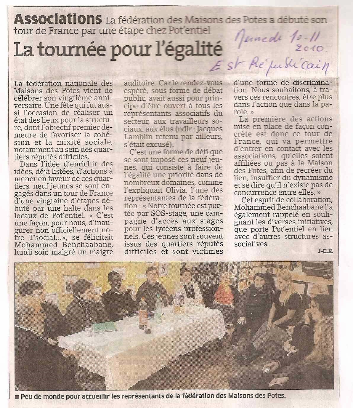 Pot 39 entiel solidarit association article de presse pour for Articles pour la maison