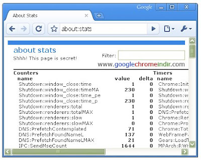Google Chrome Stats