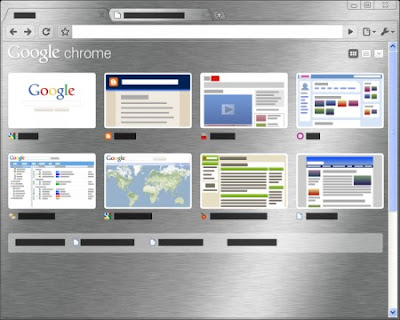 Google Chrome Brushed Tema
