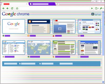 Google Chrome Horizontal Stripe Tema