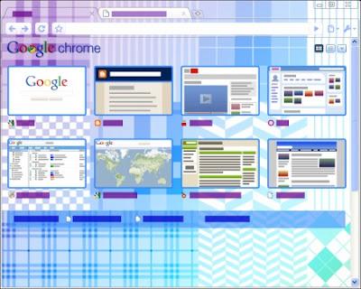 Google Chrome Quilt Tema