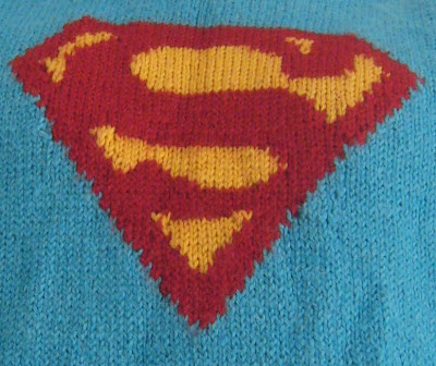 Superman Knitting Pattern : Monty; knitting lessons and textiles design in London: superman knitted jumper