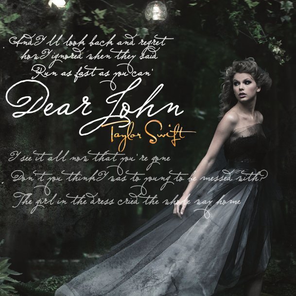 taylor swift dear john lyrics