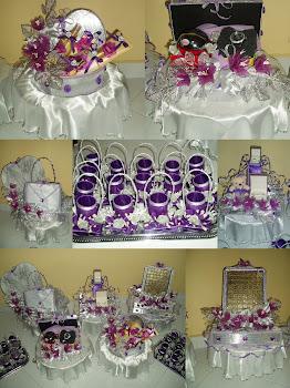 Gubahan (Purple & Silver)
