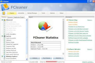 fcleaner - izgled programa