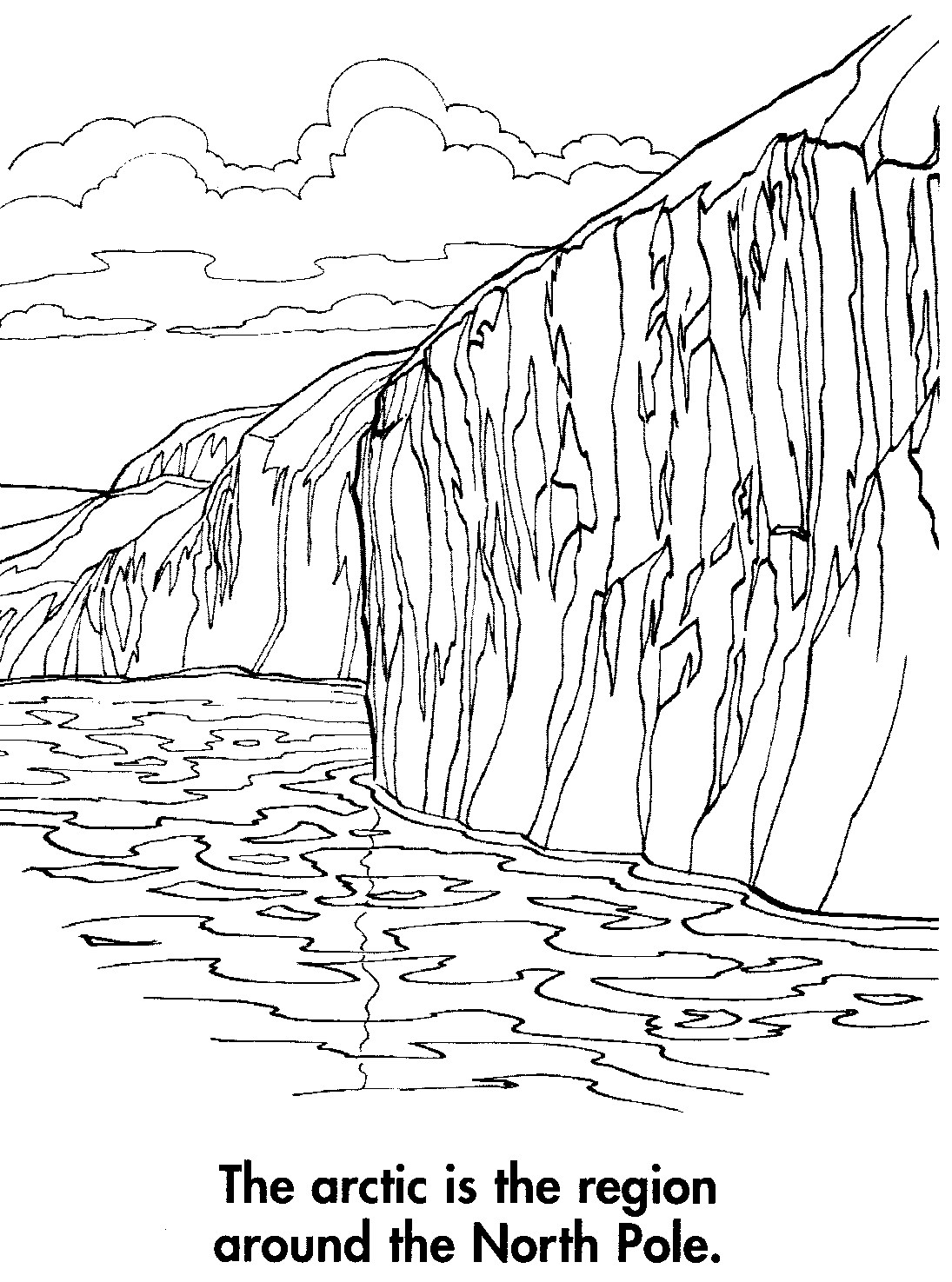 Free Coloring Pages Of Arctic Tundra Earth Arctic Coloring Page