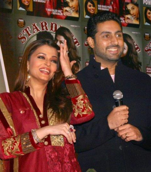 Aishwarya & Abhishek Launch Stardust Magazine Cover Issue 2011