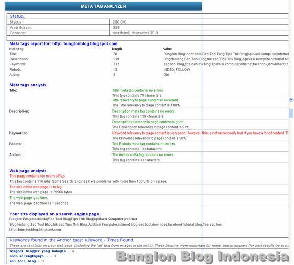 Meta Tag Analyzer : Seo tool meta tags analyzer