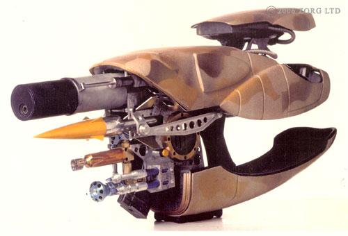"""El arma de Jean-Baptiste Emmanuel Zorg (Gary Oldman) en """"El Quinto Elemento"""""""