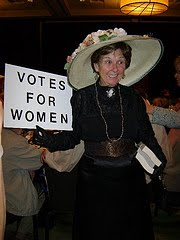 Joan as Mrs. Pankhurst
