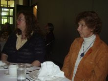 At the Festival, poet Sue Blott, Joan Baril