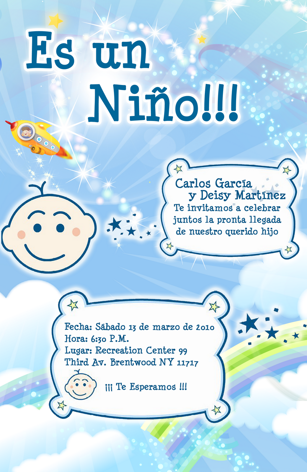 Frases para invitar a un baby shower - Imagui