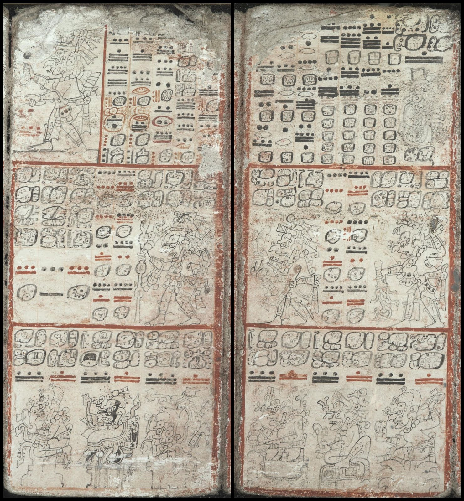 Mayan pictographs - Dresden Codex