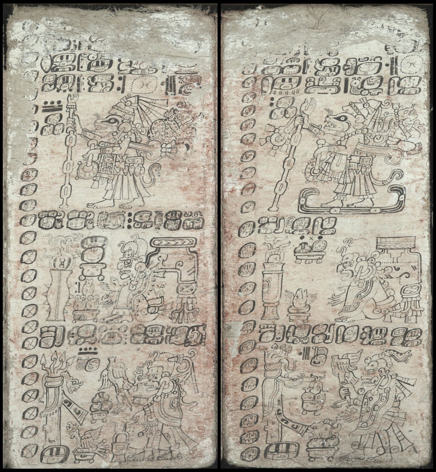11th century Mayan codex Dresden - Rituals at the beginning of the New Year