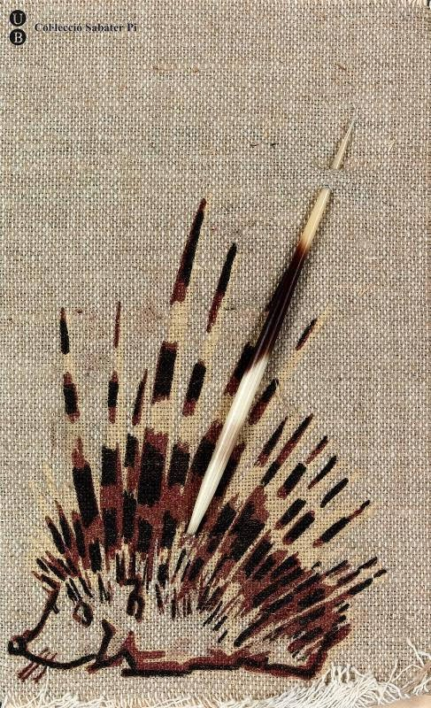 fabric drawing of porcupine