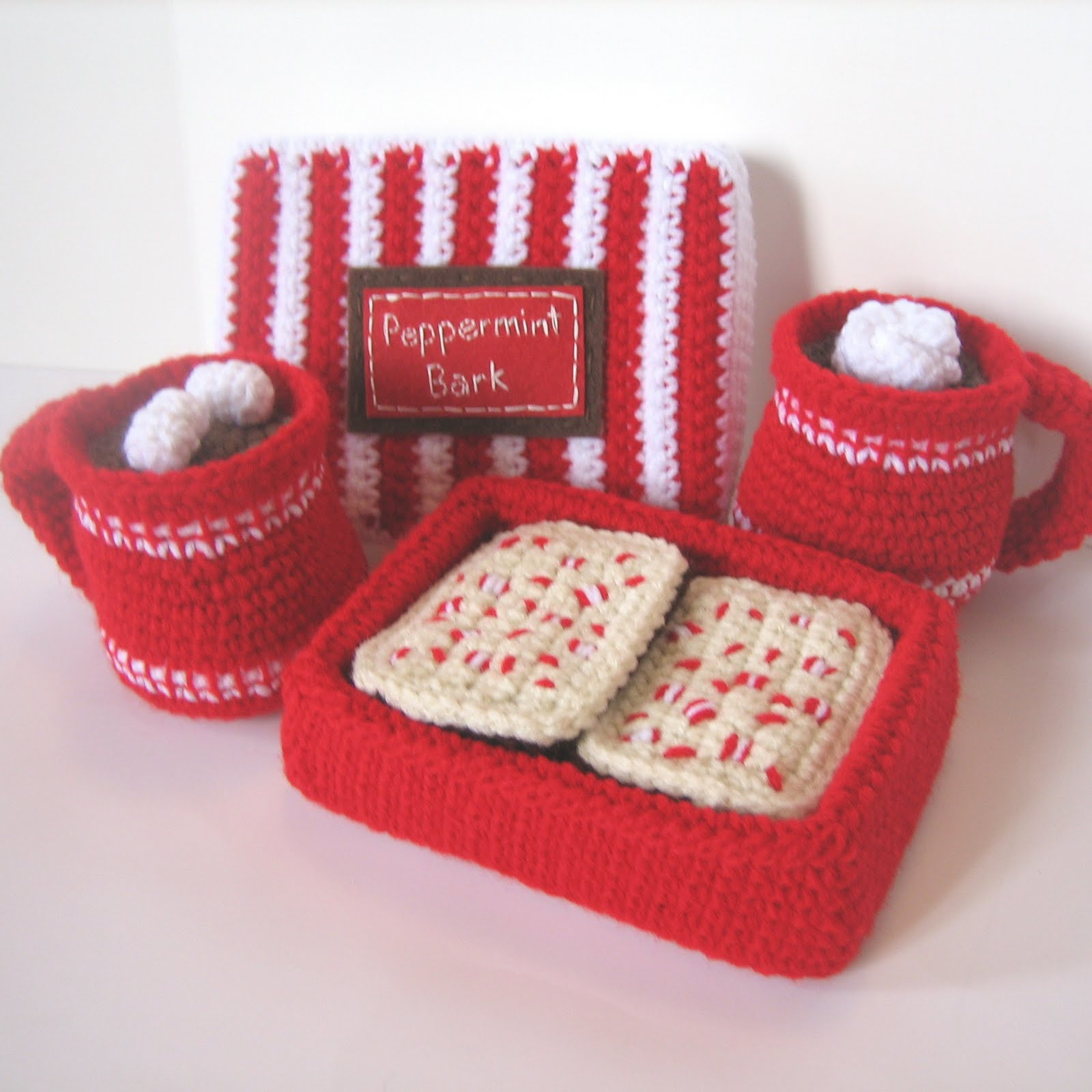 CROCHET N PLAY DESIGNS: New Crochet Pattern: Peppermint Bark and Hot ...