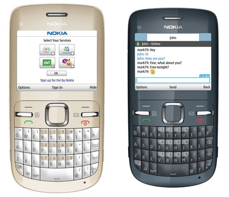 Nokia C3-00 is well-designed having a QWERTY keypad, easy to use with good