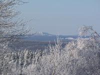 Mont Orignal de      Lac-Etchemin vu de Saint-Zacharie