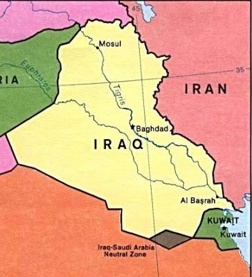 Gulf war map