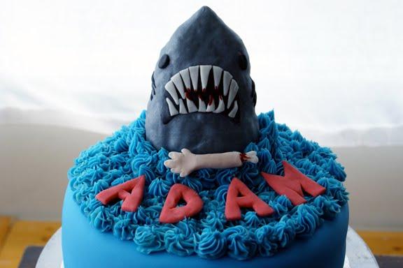 Jaws Themed Birthday Cakes