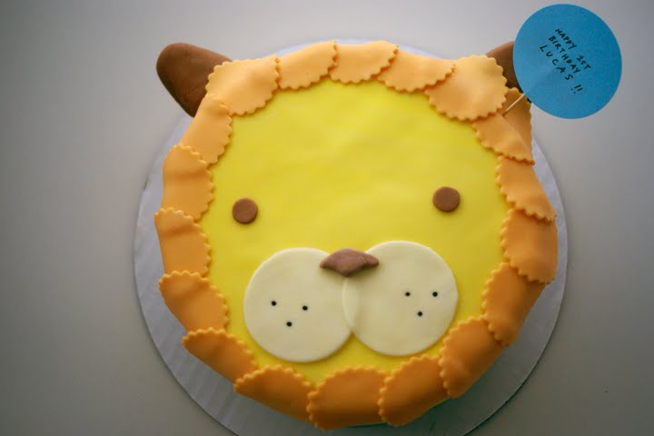 Roar Cute Lion Cake For Lucass 1st Birthday Coco Cake Land