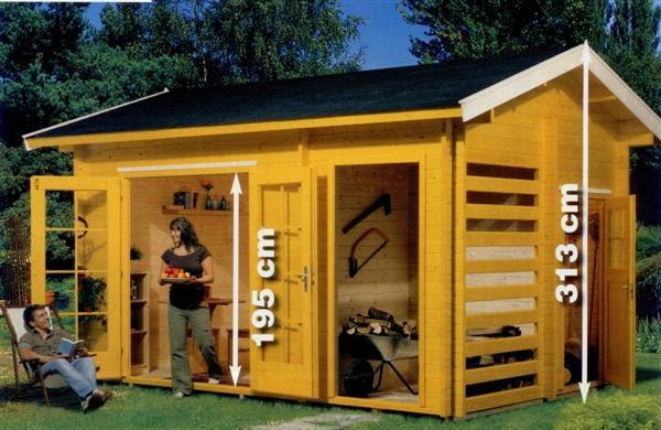 Garden center ejea accesorios jard n casas de madera de for Tejado madera maciza
