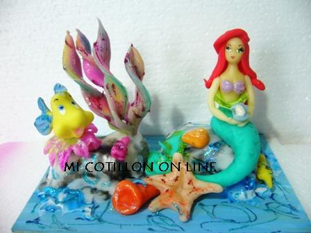 Mi Cotill  N Online  La Sirenita  Princesa De Disney Adorno De Torta
