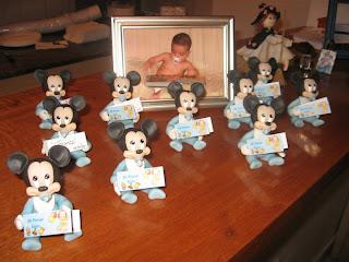 """Mi Cotillón Online: Mickey bebe souvenier en porcelana fria """"mi ..."""