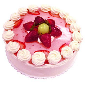 how to make a strawberry shaped birthday cake