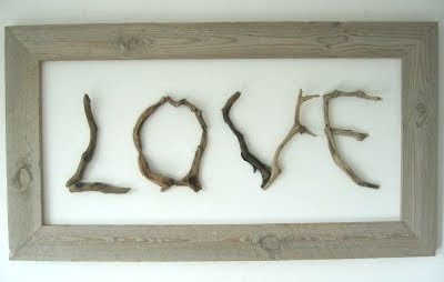 driftwood crafts idea letters