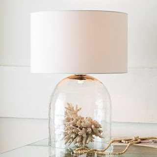 bell jar glass lamp