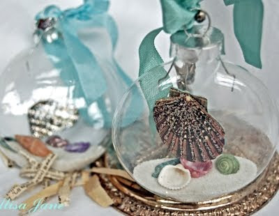 homemade beach christmas ornament ball - Beach Christmas Ornaments