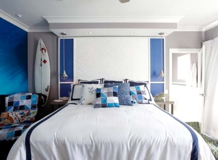 hotel interiors with surf theme
