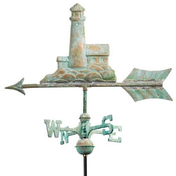 nautical lighthouse weathervane