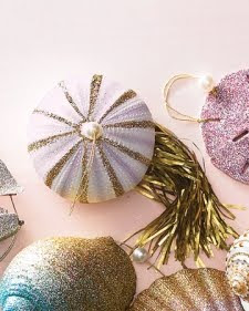 handmade sea urchin Christmas ornament