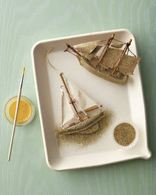 how to make glitter sailboat ornaments