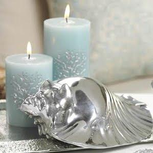 decorative silver shell