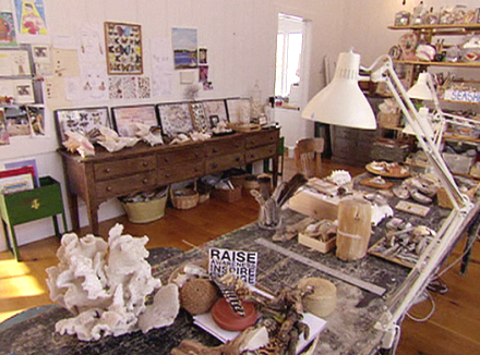 christie brinkley shell art studio