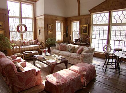 christie brinkley's home living room