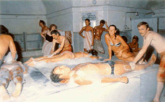Женщины моющие в бане видео