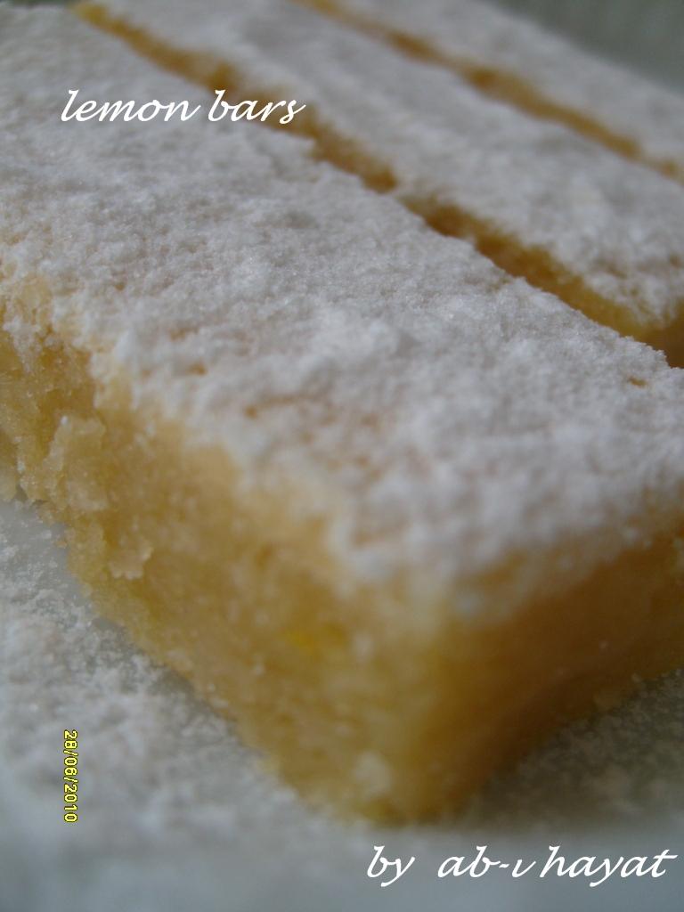 Limonlu Barlar Tarifi