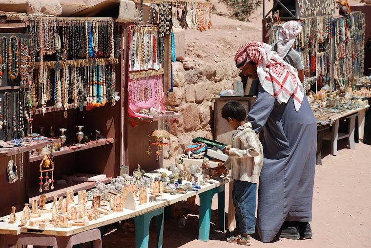 Vendedor ambulante en Petra