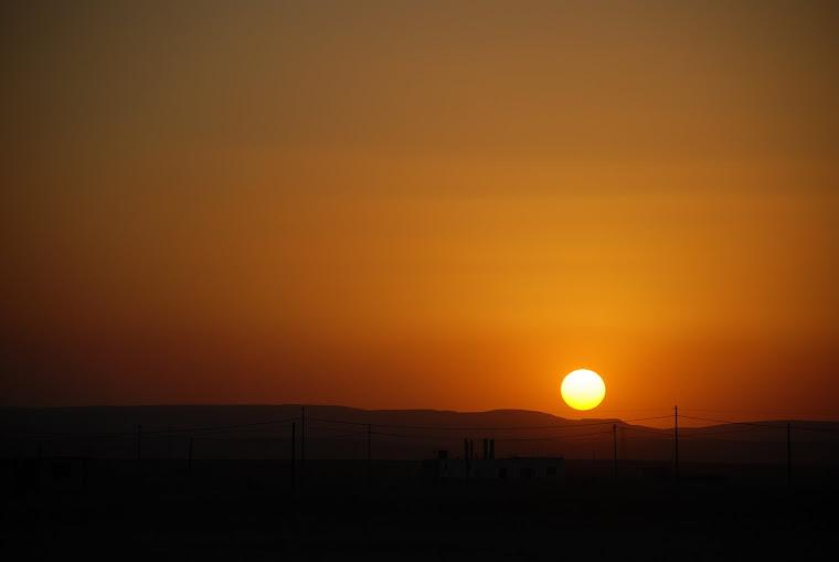 Puesta de sol en Wadi Run