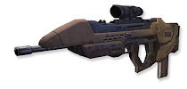 Scoped assault riffle