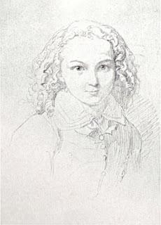 Felix Mendelssohn im Alter von 12 Jahren, Zeichnung von Wilhelm Hensel 1821