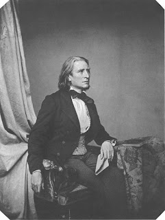 Franz Liszt, um 1860 (Fotograpie von Franz Hanfstaengl)