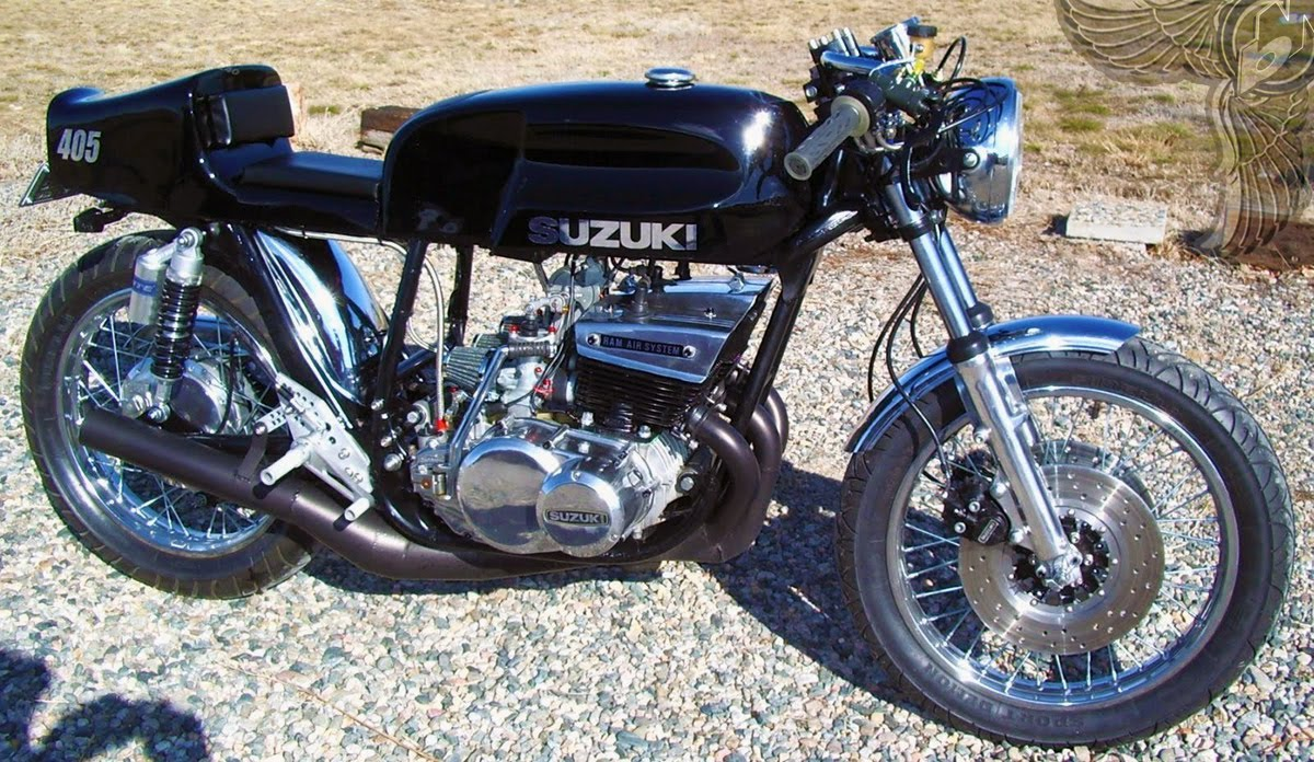 suzuki gt550 two-stroke cafe racer