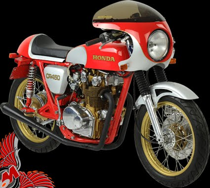 phil little's honda cb450 cafe racer