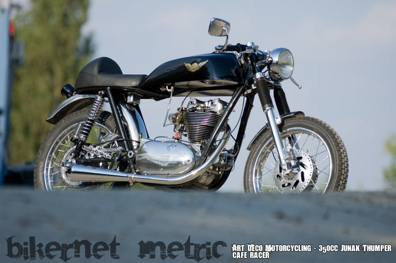 pannonia single cafe racer | art deco motorcycling