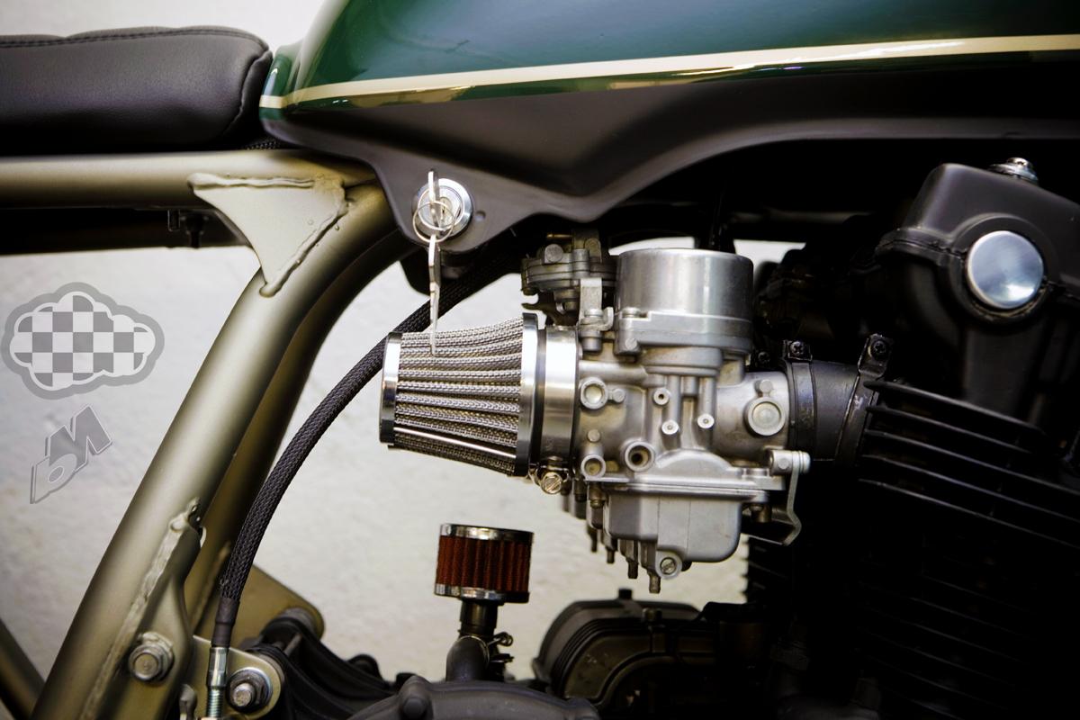 cream motorcycles cb750 tracker - bikerMetric